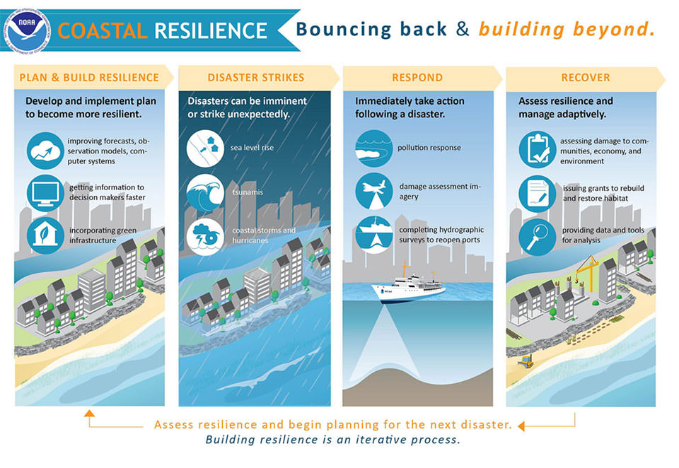 Graphic describing coastal resilience