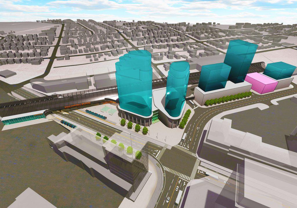 Rendering of King Victoria multimodal transit hub