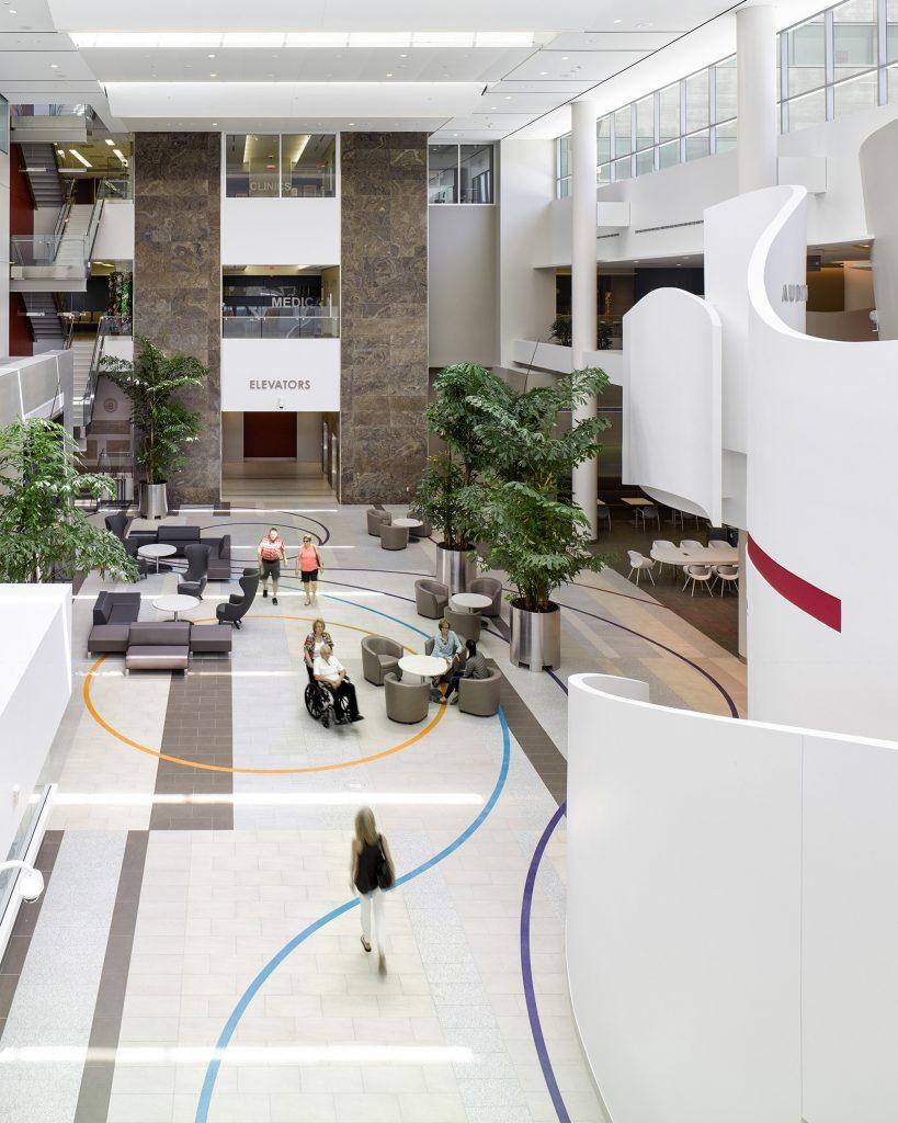 Atrium inside Womens College Hospital