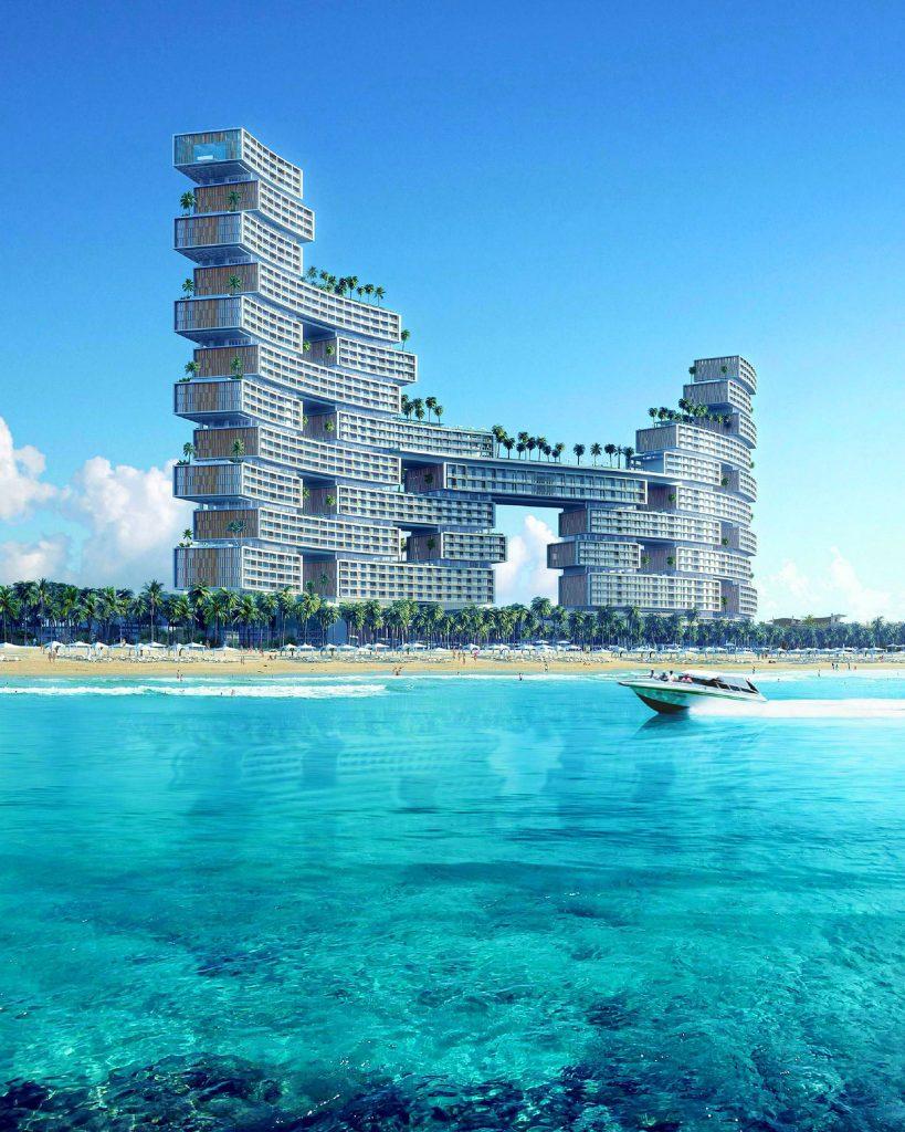 Royal Atlantis building exterior rendering