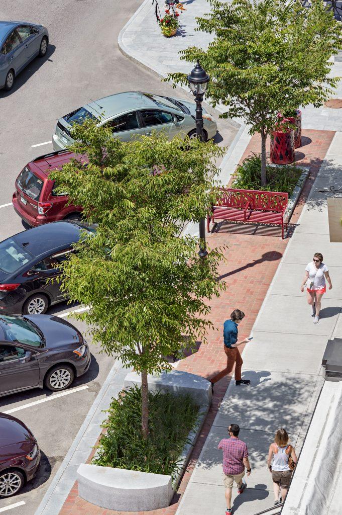 Concord Streetscape aerial view