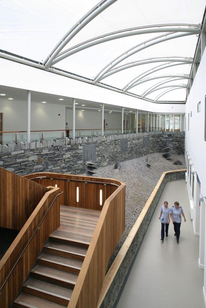 View of interior Ysbyty Alltwen Hospital