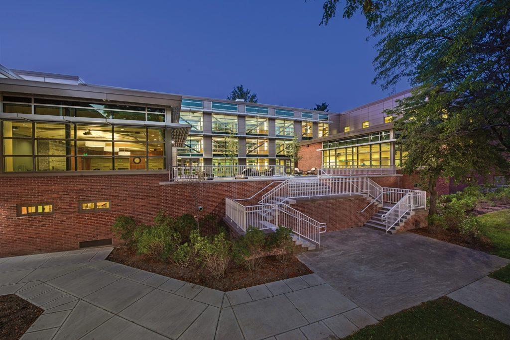 Binghamton University courtyard