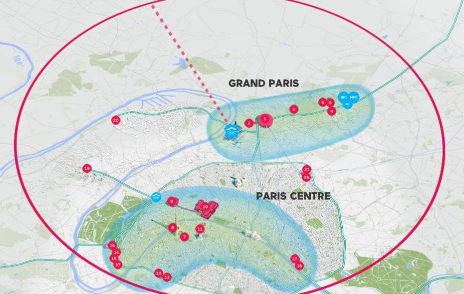 Map of Paris 2024 Olympic Venues