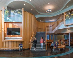 Foyer inside Mary Lyon Elementary School