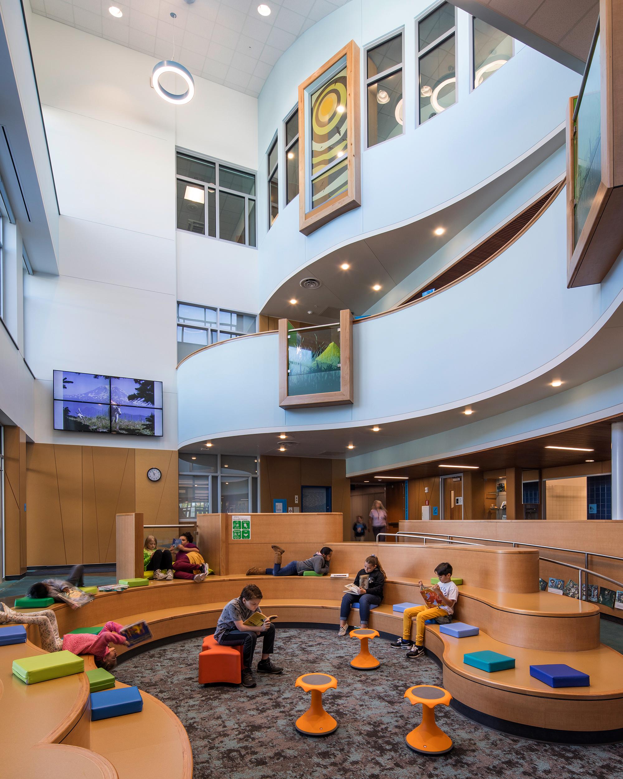 Library inside Mary Lyon Elementary School