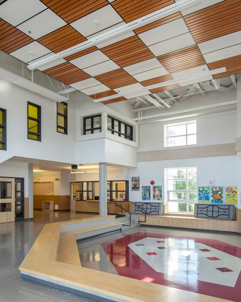 Interior of Queen Mary Elementary School in Vancouver