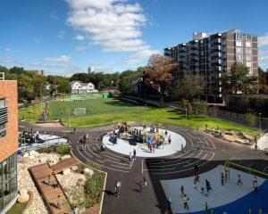 Coolidge Corner School Brookline Massachusetts playground
