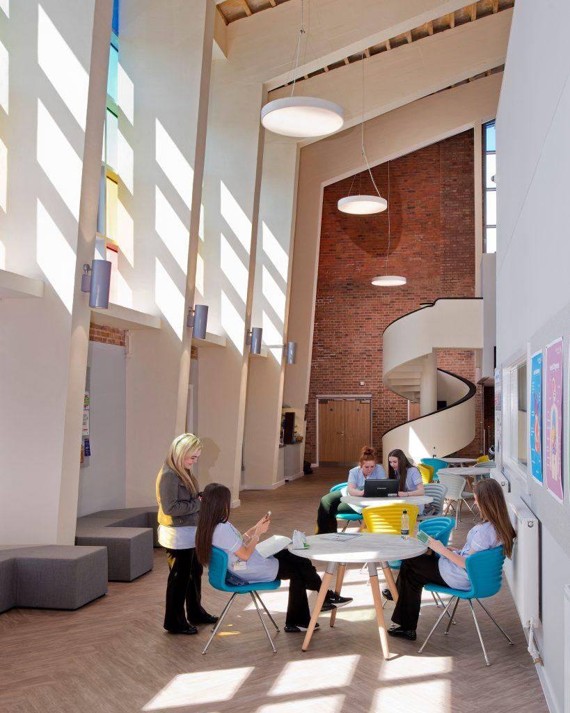 Hugh Baird College interior staircase