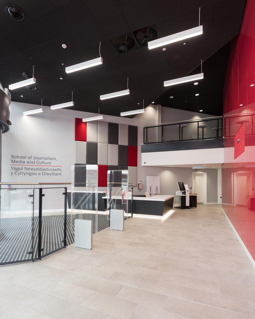 Interior of JOMEC in Cardiff UK