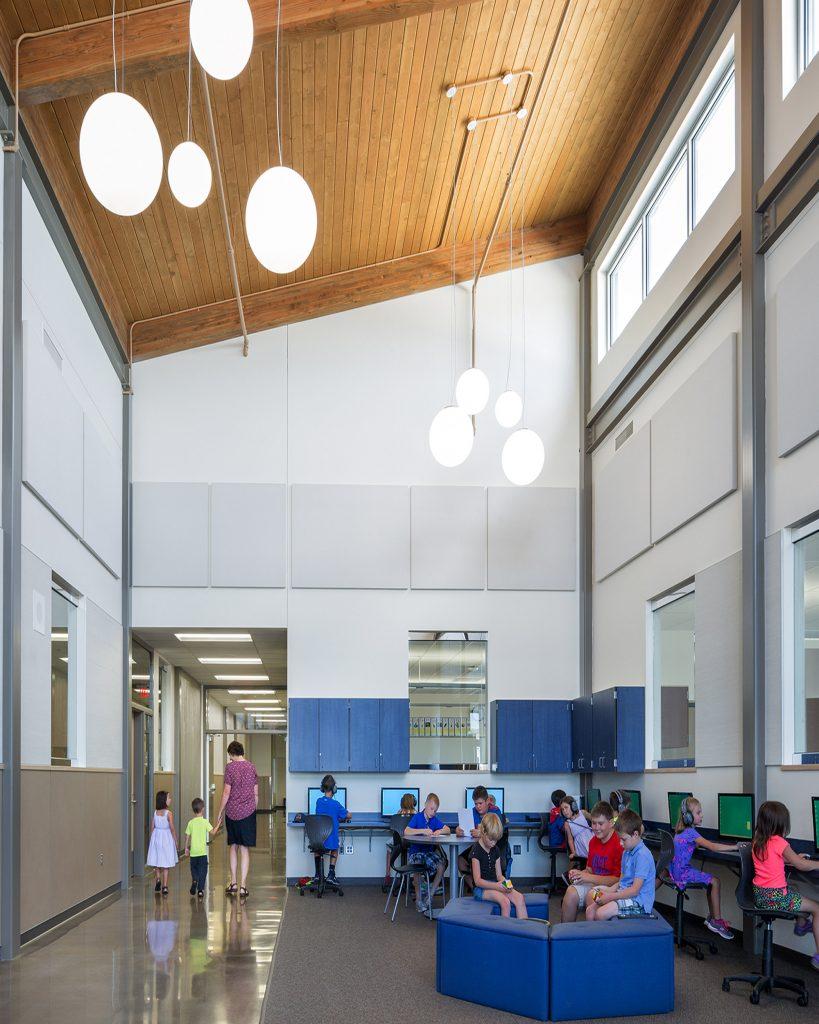 Open work space inside Henley Elementary School