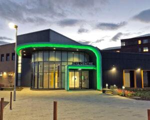 Front entrance of NHS Gloden Jubilee Eye Centre
