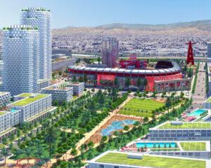 Rendering of Angel Stadium development plan