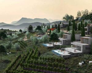 Rendering of Zagora Net Zero Village