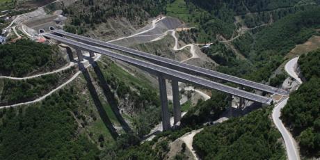 MyEgnatiaPass bridge in Athens,Greece